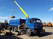 КАМАЗ 65115  самосвал с КМУ сельхозник